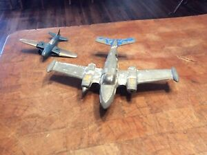 Vintage Die-cast Toy AIRPLANES Hurley & Gabriel Industries, original paint