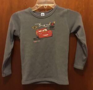 Boy DISNEY JAPAN Gray Red Lightning McQueen Cars L/s Graphic Sweatshirt 130 10