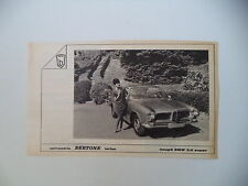 advertising Pubblicità 1961 BMW COUPE' 3,2 SUPER BERTONE