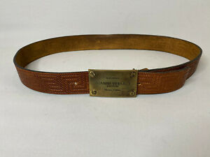 Vintage Gianni Versace Belt Greek Quilted Leather