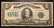 1923 Canada one Dollar Paper Money P33m