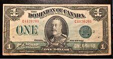 1923 Canada one Dollar Paper Money P33m
