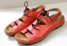 WOLKY Kite Leather Slingback Sandals Walking Shoes Orange Size 42 Adjustable