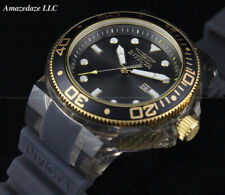 NEW Invicta Men 52mm Grand ProDiver Anatomic BLAC DIAL 100M Silicone Strap Watch
