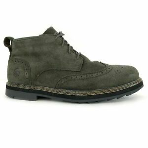 Timberland Men's Squall Canyon Waterproof Dark Green Suede Wing Tip Boots A1SV4