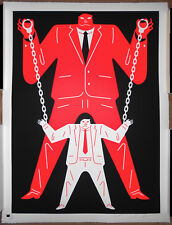 Cleon Peterson Little Man Big Man Mueller Donald Trump Red Signed Print Poster