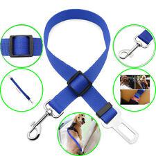 Universal Cat Dog Pet Auto Car Safety Seat Belts Adjustable Harness Lead Blue