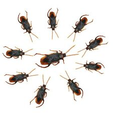 10 PACK HALLOWEEN CREEPY COCKROACHES HAUNTED HOUSE PARTY ROOM NOVELTY DECORATION