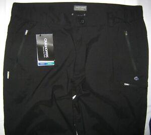 Craghoppers Kiwi Pro Active Men's Trousers Regular CMJ322R 8000 Black UK W42 R