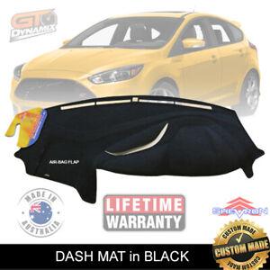 DASH MAT for FORD Focus ST LW LZ MK1 MK2 Turbo 6/2012-2019 AIR-BAG DM1306 Black