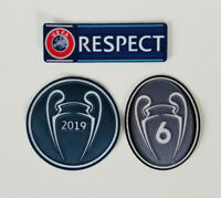 2019 Champions League Winner Liverpool Patch Set 2019-2020 Mohamed Saleh UEFA
