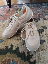 GEOX Respira Beige Suede Italian Leather Comfort Sneakers Size EUR 37 US 7.5