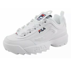 Fila Disruptor II 3D Embroider white/fnvy/fred Womens Size: 8.5