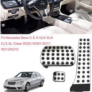 For Mercedes-Benz C E S GLK SLK CLS SL-Class Car Gas Throttle Brake Pedal Cover