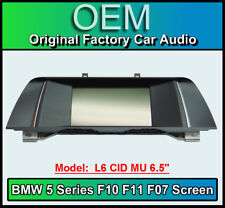 BMW 5 Series Satellite Navigation display, BMW F10 F11 F07, L6 CID MU 6.5""