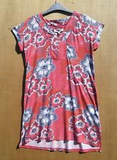 Next size 10 soft Viscose jersey floral mini dress/long top