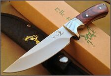 9 INCH OVERALL ELK RIDGE FULL TANG FIXED BLADE HUNTING KNIFE WITH NYLON SHEATH