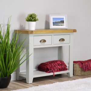 Arklow Large Grey Oak Console Hall Table   Painted Storage   FULLY ASSEMBLED