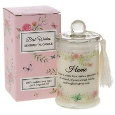 best wishes sentiment home candle jar 100% soy wax pure fragrant oil mini gift