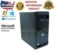HP PRO 3500 SERIES MT i3-3240  3.4GHZ 8GB 1TB Win 10 Pro 1 Year Warranty