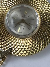 VINTAGE Ladies Wilson Gold Tone Swiss Made WATCH Necklace PENDANT
