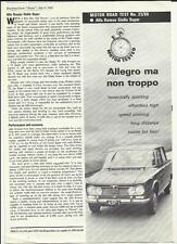 ALFA ROMEO GIULIA SUPER ROAD TEST 'SALES BROCHURE'  - MOTOR 1966