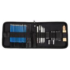 32 Pcs Dessin Croquis Set Fusain Crayon Artisanat Peinture Esquisse kit