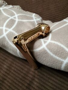 """GOLD  Plated 3 TTT 1"""" Stem  L Eroica  CAMPAGNOLO - CINELLI  """"NOT"""" BETTER PICTUR"""