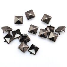200pcs Gun-Black Pyramid Shape Metal Studs Spike Rivet For Diy Leathercraft 6mm