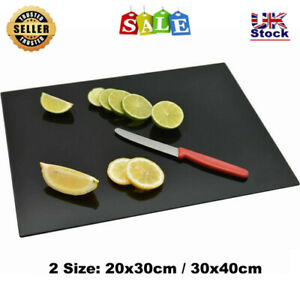 Glass Worktop Saver Black Kitchen Chopping Cutting Utensil Board Large or Small