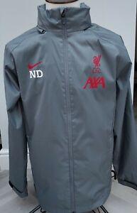 Liverpool FC Nike  Men's Training Rain  Jacket Coat / LARGE  UK GREY/ CLUB WORN