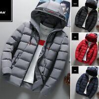 Men's Down Coat Winter Thick Hoodie Outerwear Jacket Hooded Puffer Overcoat ER