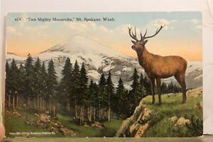 Washington WA Mt Spokane Two Mighty Monarchs Postcard Old Vintage Card View Post
