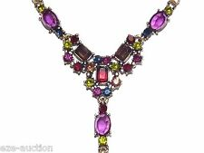 Gorgeous Multicolor Crystal Drop Necklace Earrings Set