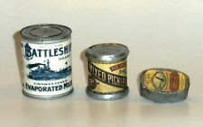 "1:6 scale WW II U.S. food can set ""A"""
