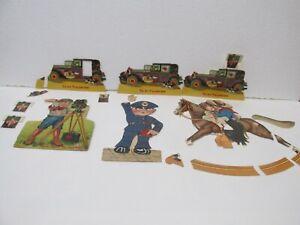 Set Of 6 Vintage Paper Valentine Card Pieces jrs73