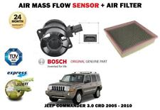 FOR JEEP COMMANDER 3.0 CRD 4X4 2005-2010 NEW AIR MASS FLOW SENSOR + AIR FILTER