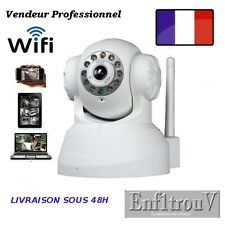 CAMERA IP RESEAU WIFI MOTORISE INFRAROUGE COMPATIBLE IPHONE SMARTPHONE BOX ADSL