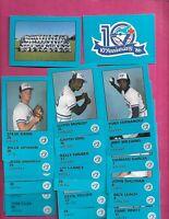 1986 TORONTO BLUE JAYS 10TH ANNIVERSARY 36 CARD SET (INV# C9644)