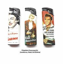 Tom Elektronic Briquet filmmotive-Set Casablanca-Rebel-KID GALAHAD 3x