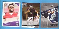 DAK PRESCOTT RC WORN JERSEY + 2016 LEAF ROOKIE + EZEKIEL ELLIOTT RC CARD COWBOYS