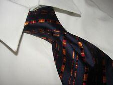 Bally  Men's Blue /Orange Stripe Silk Tie *Italy*