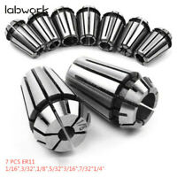 New 7Pcs ER11 Spring Collet Set For CNC Milling Lathe Tool Engraving Machine US