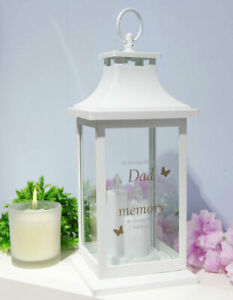 Dad Graveside Candle Memorial Lantern Remembrance Tribute Grave Memory Gift