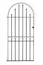 Wrought Iron Metal Arched Ball Tall Garden Gate 3ft(915mm) x 6ft2(1880mm) SBT3