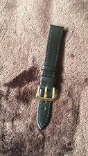 Good Quality Brown 16mm Calf Grain Genuine Leather Watch Strap