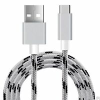 White Braided Micro USB 3.1 Sync Charger Cable For ZTE Axon 7 Zmax Pro Z981