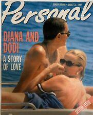 Very Rare Personal Magazine Princess Diana Dodi Story of Love August 31, 1997