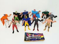 Lot Wrestler 6in Action Figure Mexican Toys LUCHA LIBRE MEXICANA Lot of 10