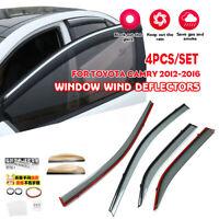 For 2012-2019 Toyota Camry Window Visors Rain Guard Vent Sun Shade Deflector